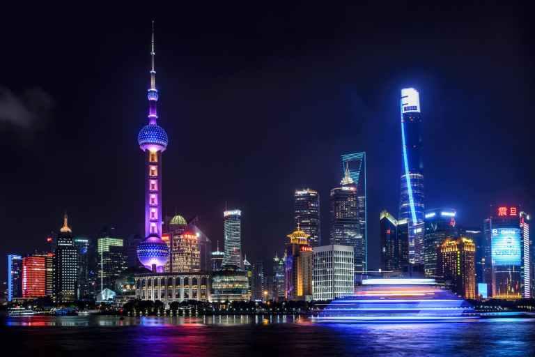 landscape photo of night city