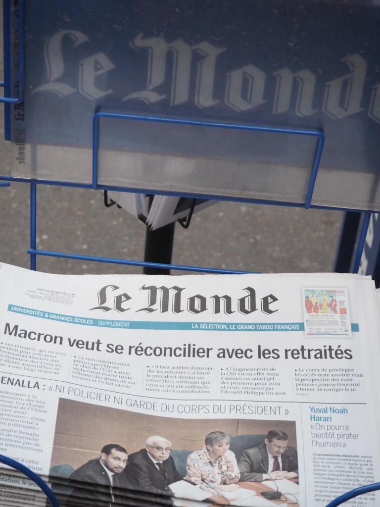 Le Monde on 23.09