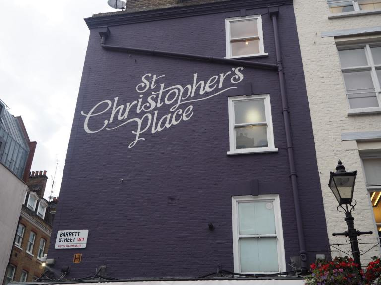 St Christopher's Place Wall