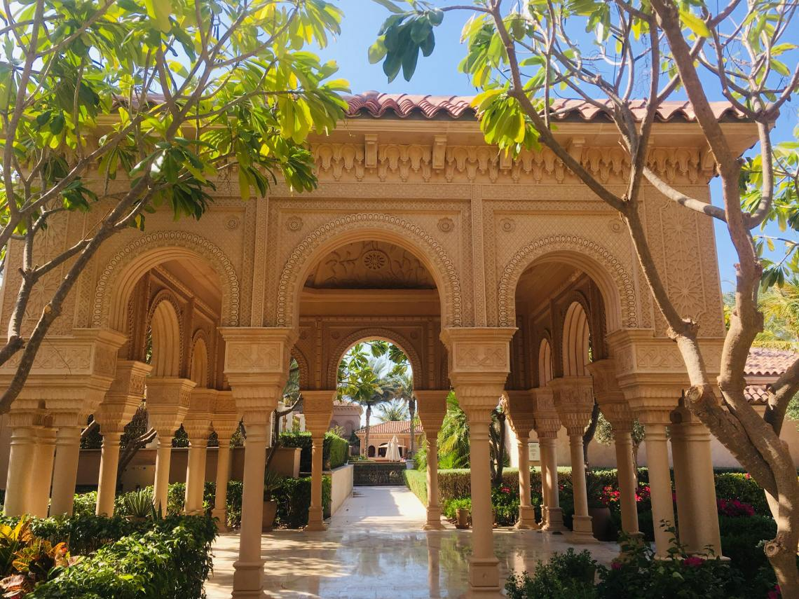 6. Archways to the spa